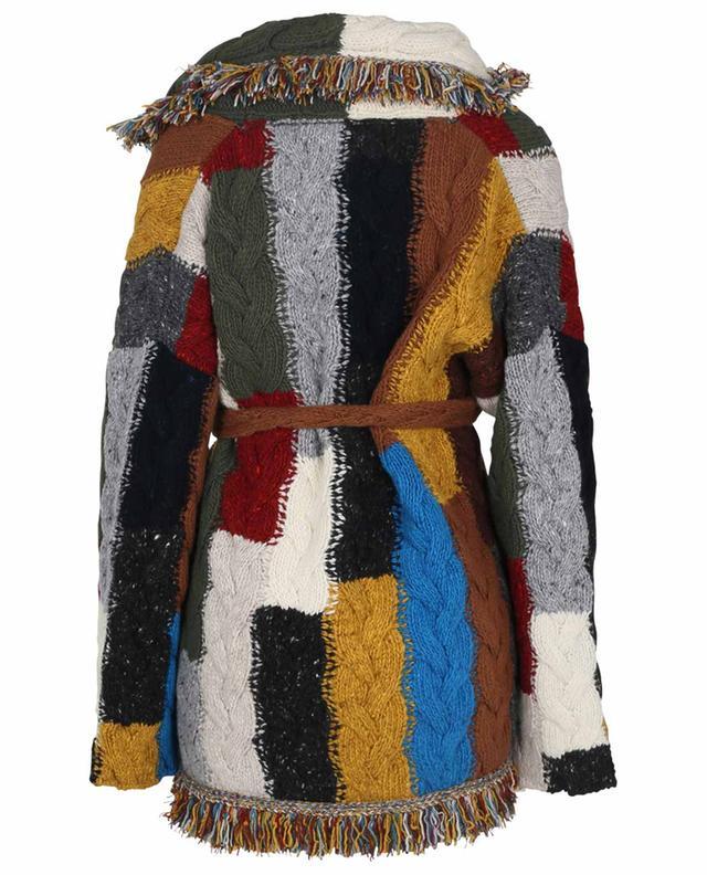 Cardigan patchwork en laine et cachemire Tierra Del Fuego ALANUI