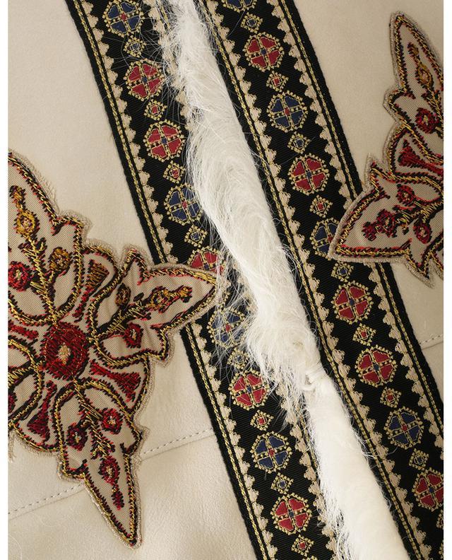 Veste afghane en peau lainée brodée ETRO