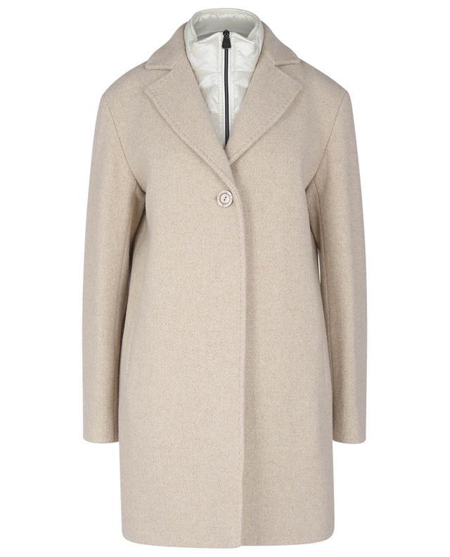 Manteau court en laine, cachemire et lurex à parties matelassées CINZIA ROCCA
