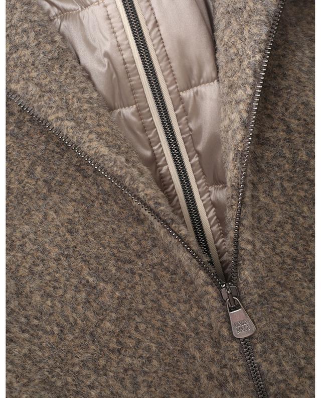 Parka en laine effet zibeline à détails ouatés CINZIA ROCCA