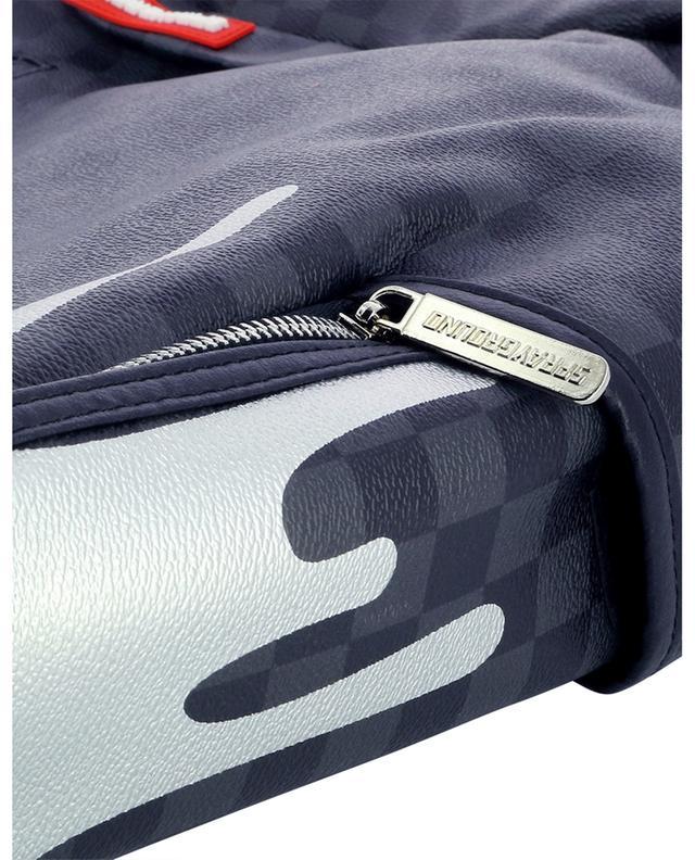 Sac à dos en cuir synthétique motif damiers Platinum Drips SPRAYGROUND