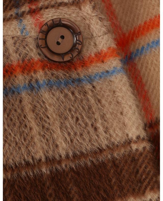 Manteau trapèze à carreaux prince-de-galles CINZIA ROCCA