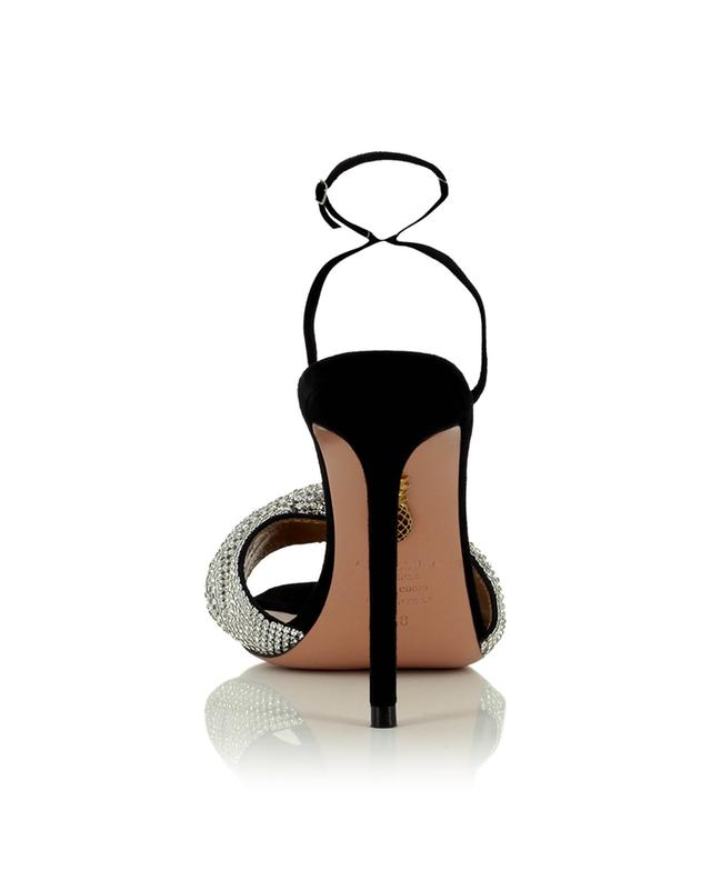Sandales à talon en daim Crystal Twist 105 AQUAZZURA