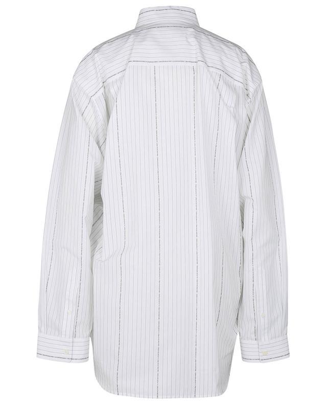 Chemise rayée motif logo en coton Large Fit BALENCIAGA