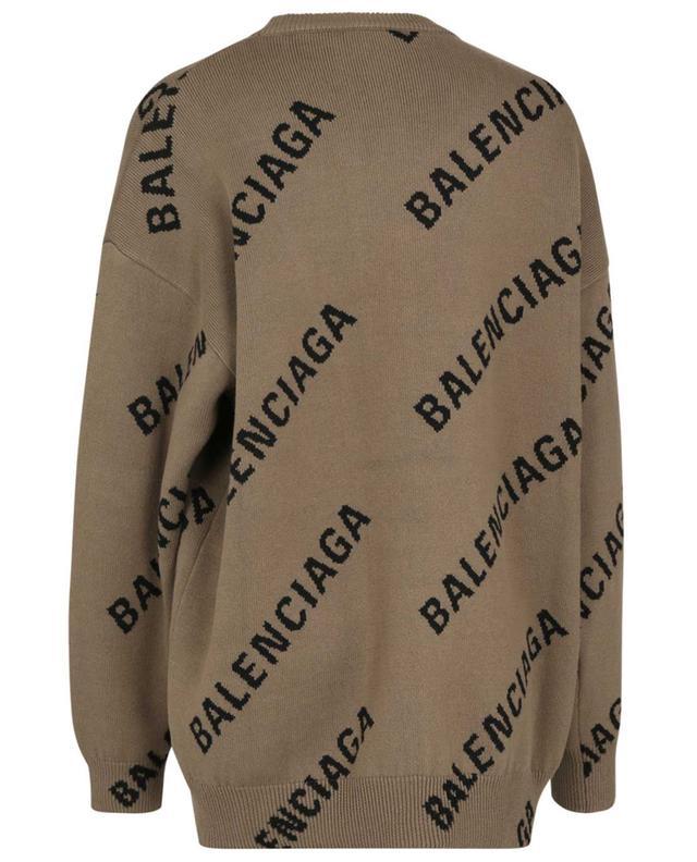Pull jacquard oversize motif logo all-over BALENCIAGA