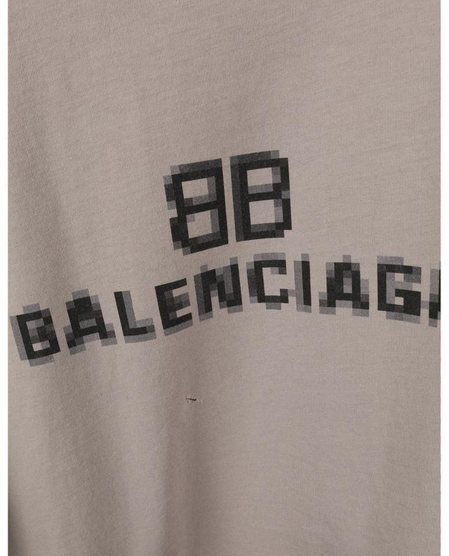 T-shirt oversize déchiré imprimé BB Pixel Boxy BALENCIAGA