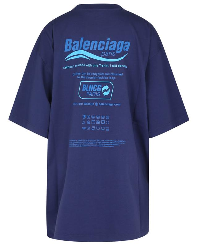 T-shirt en jersey imprimé Dry Cleaning Boxy BALENCIAGA