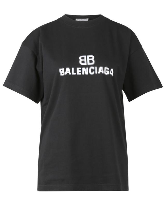 T-shirt en jersey imprimé BB Pixel Medium Fit BALENCIAGA