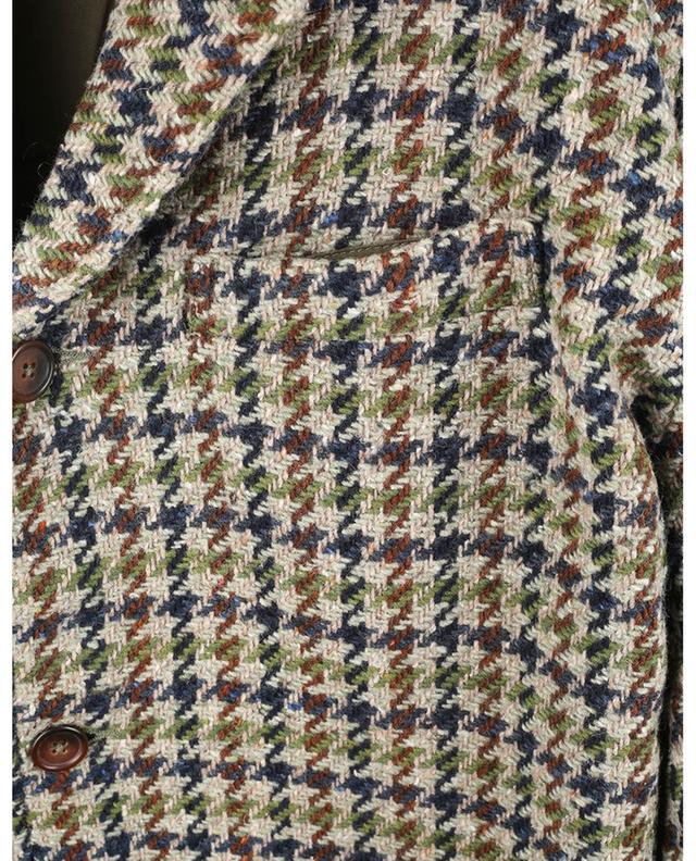 Pardessus motif pied-de-poule Olive Recycled Tweed UNIVERSAL WORKS