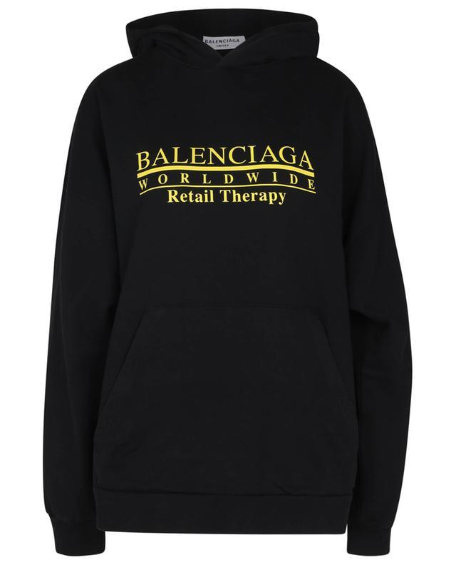 Sweat-shirt à capuche imprimé Retail Therapy Wide Fit BALENCIAGA
