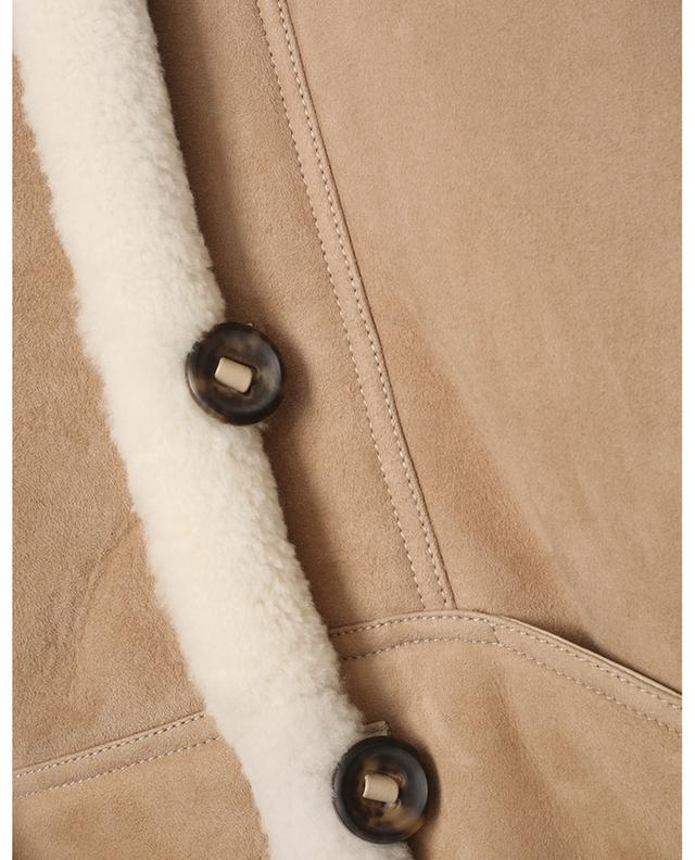 Veste en peau lainée ample à poches en V BARBARA BUI