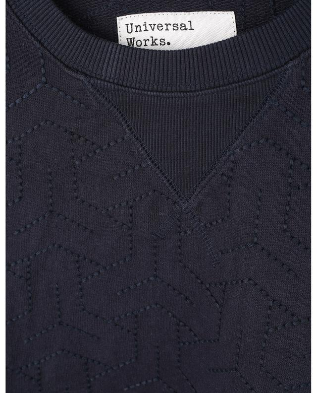 Sweat-shirt à col rond oversize brodé Loopback UNIVERSAL WORKS
