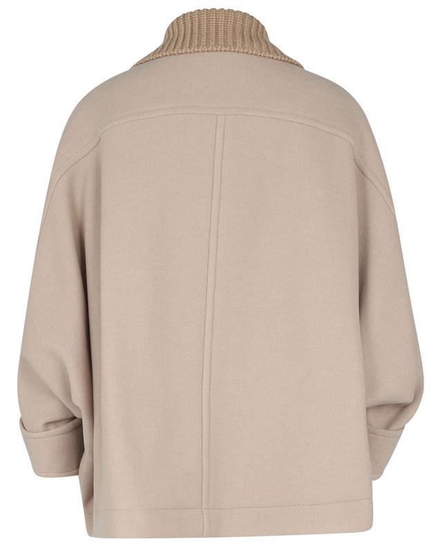 Manteau court ample en laine CHLOE