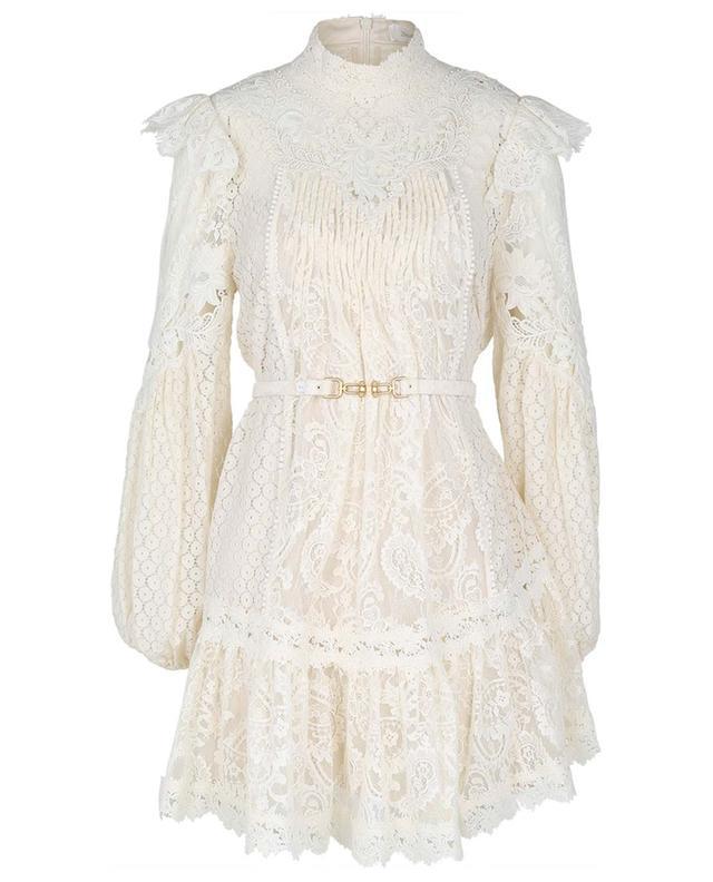 Mini robe en dentelle fleurie Concert ZIMMERMANN