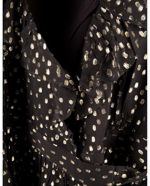 Mini robe portefeuille à pois en Lurex Concert ZIMMERMANN