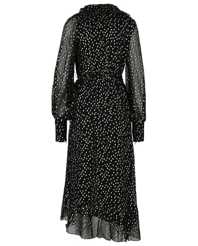 Concert Lurex dot embellished midi-length wrap dress ZIMMERMANN