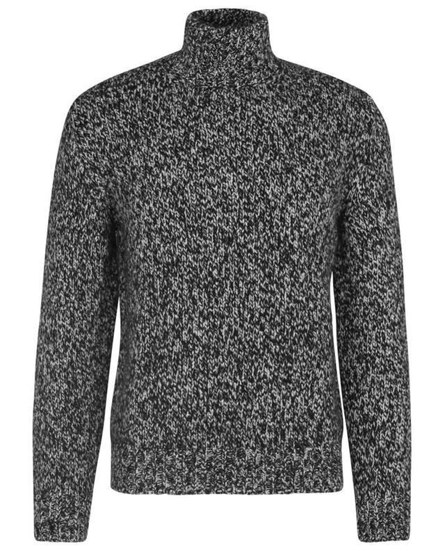 Mottled cashmere and silk mock-neck jumper BRIONI