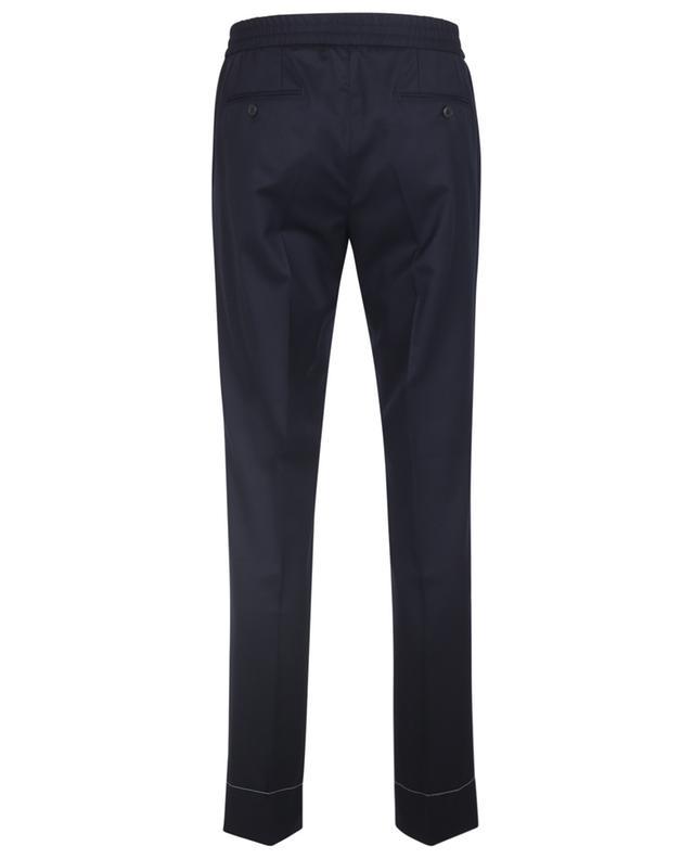 Pantalon en laine à taille élastiquée Sidney BRIONI