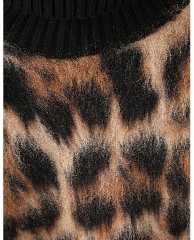 Pull en mohair à col roulé motif léopard DOLCE & GABBANA