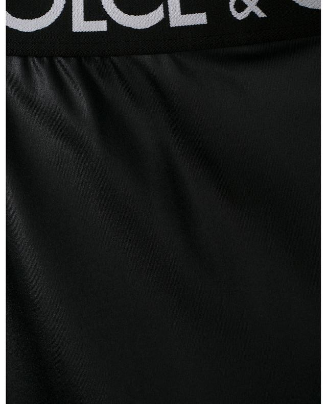 Legging brillant en jersey indémaillable à logo DOLCE & GABBANA