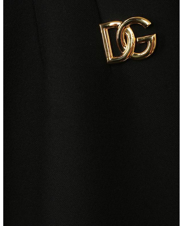 Mini jupe en crêpe de laine vierge détail DG DOLCE & GABBANA