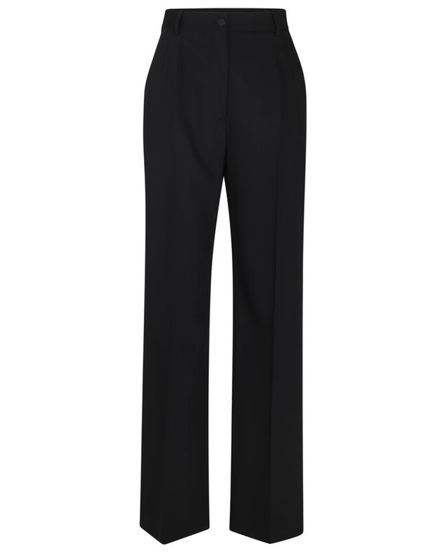 Pantalon large taille haute en sergé de laine DOLCE & GABBANA