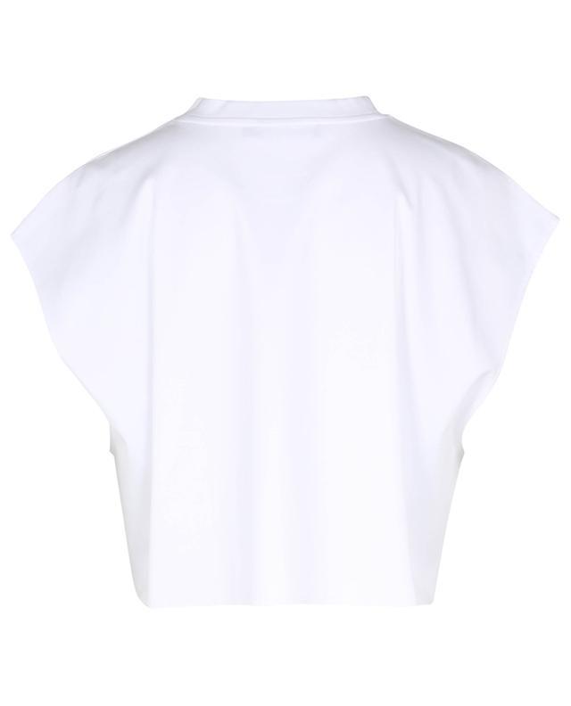 T-shirt raccourci en jersey orné de dentelle DG DOLCE & GABBANA