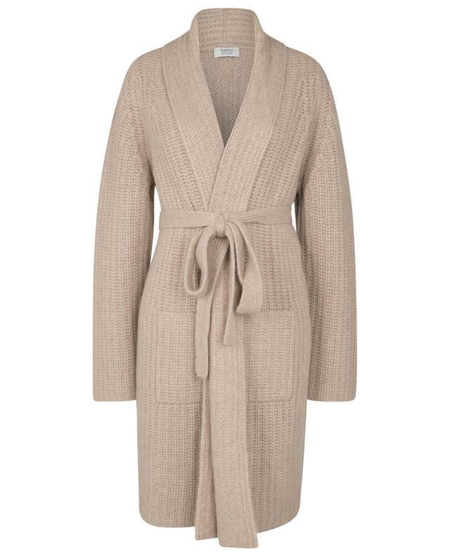 Manteau en maille de cachemire bio côtelée avec ceinture BONGENIE GRIEDER