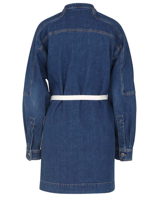 Mini robe en denim de coton biologique avec ceinture STELLA MCCARTNEY