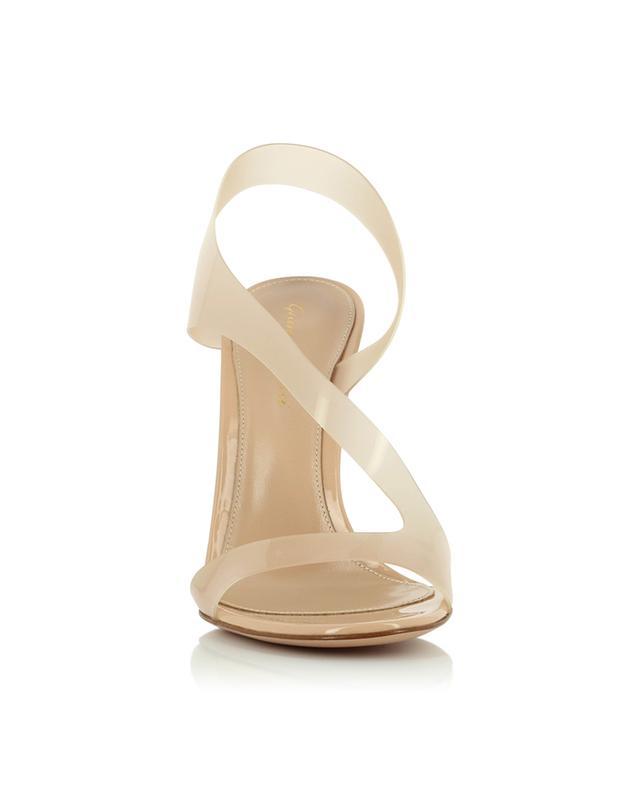 Sandales à talon en cuir verni et plexiglas Metropolis 105 GIANVITO ROSSI