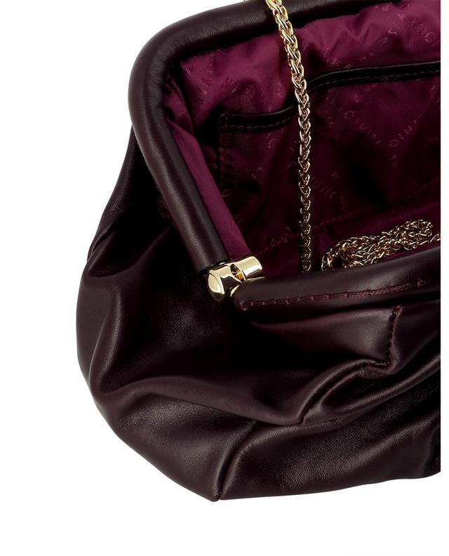 Pochette cuir plissé Audrey 21200 Nuvolato Prugna PLINIO VISONA'