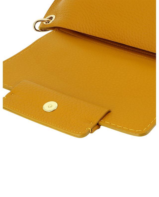 Petit sac à main en cuir grainé Sofia 21631 Queen Senape PLINIO VISONA'