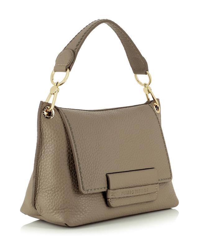 Petit sac à main en cuir grainé Sofia 21631 Queen Taupe PLINIO VISONA'