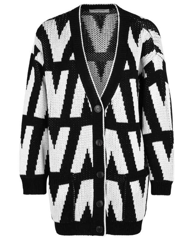 Cardigan oversize en coton Optical Valentino VALENTINO