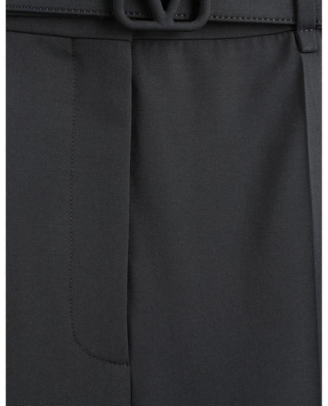 Pantalon droit en toile technique avec ceinture VLogo VALENTINO