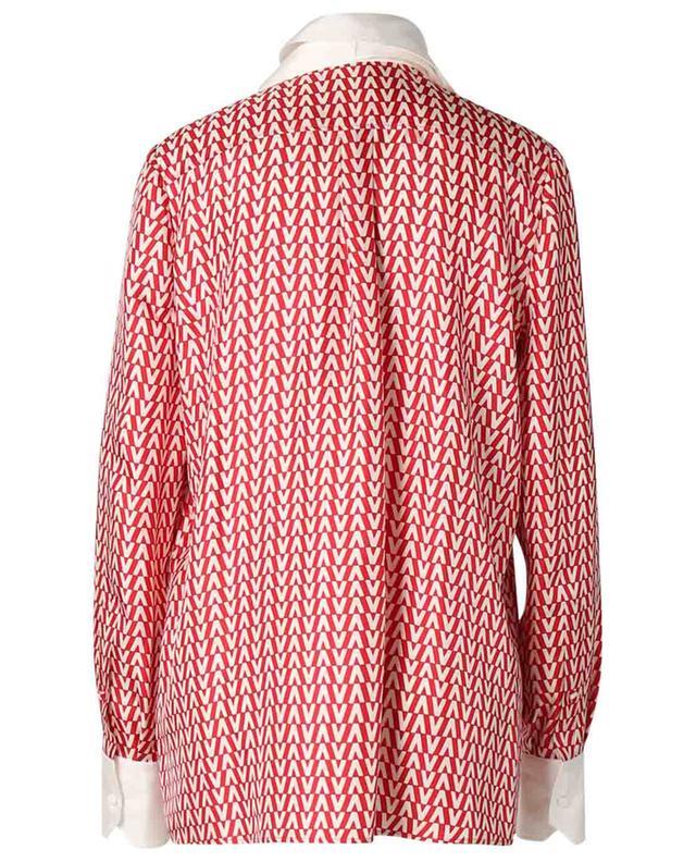 Chemise à lavallière en sergé de soie imprimée Optical Valentino VALENTINO