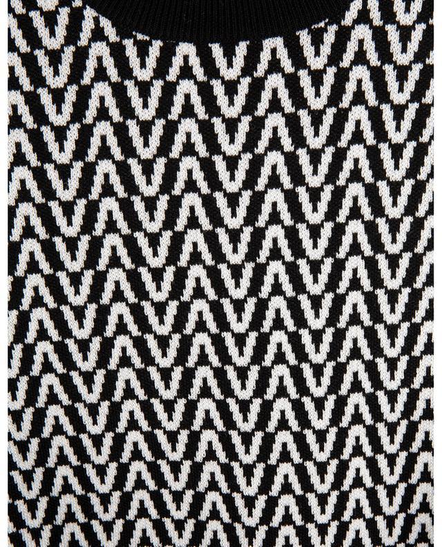 Pull chaussette à manches courtes en laine et coton Optical Valentino VALENTINO