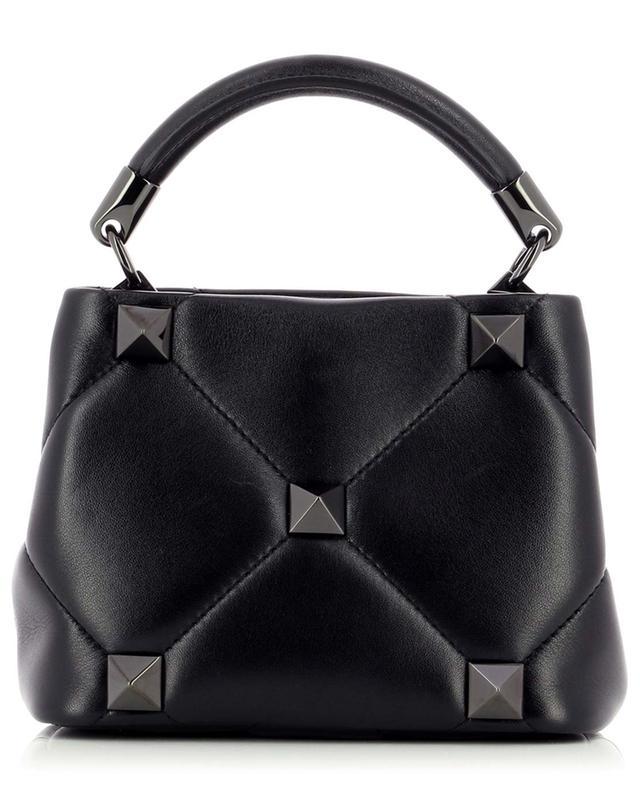 Mini sac à main en cuir nappa Roman Stud The Top Handle VALENTINO