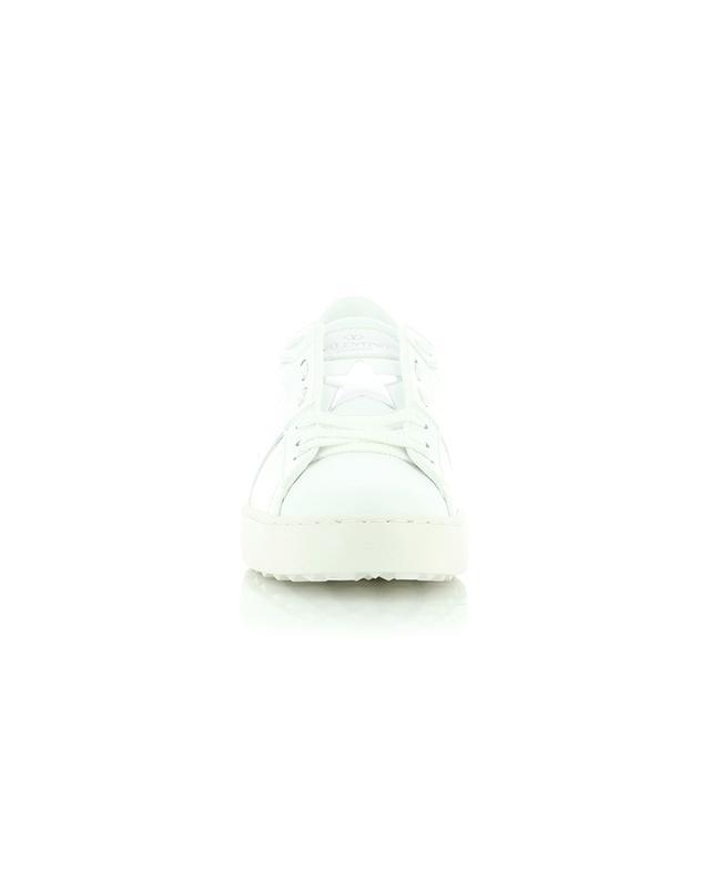 Baskets blanches en cuir à imprimé argenté VLTN Open VALENTINO
