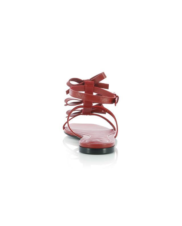 Sandales plates en cuir de chevreau French Bows 05 VALENTINO
