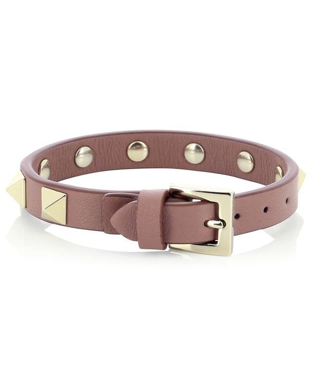 Bracelet en cuir de veau Rockstud VALENTINO