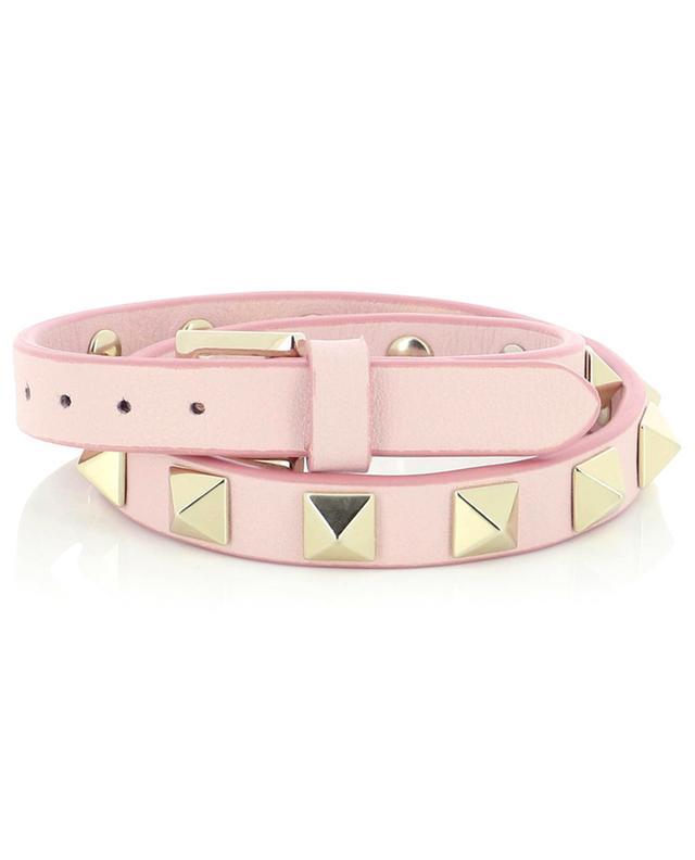 Bracelet double en cuir Rockstud VALENTINO