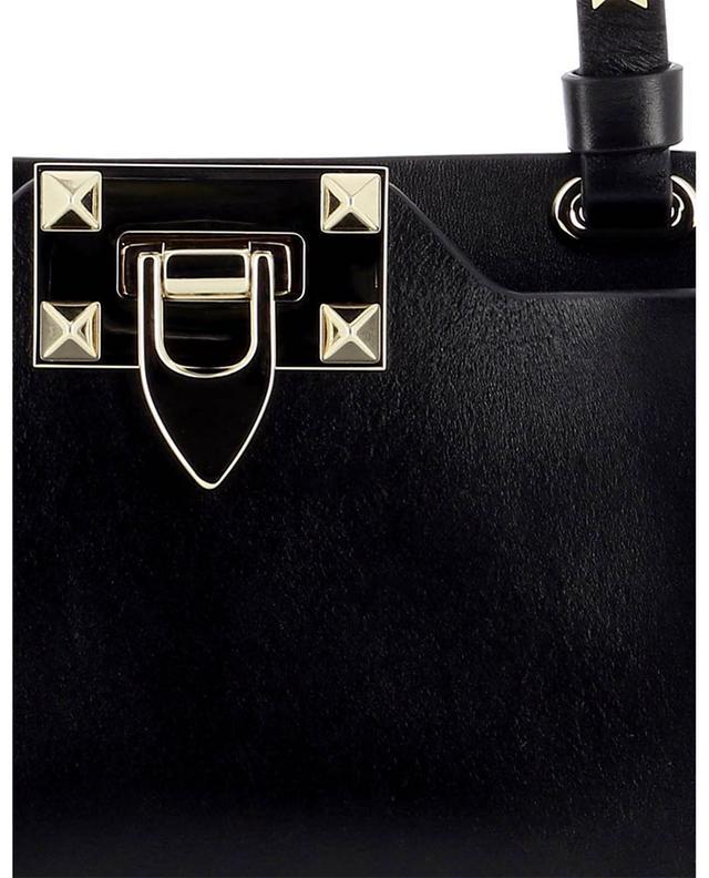 Sac porté épaule pour smartphone en cuir de veau Rockstud VALENTINO