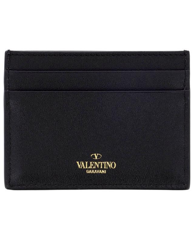 Petit porte-cartes en cuir Rockstud VALENTINO