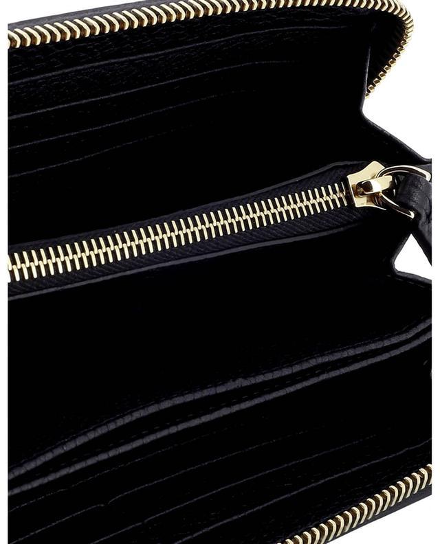 Grand portefeuille zippé en cuir grainé Rockstud VALENTINO
