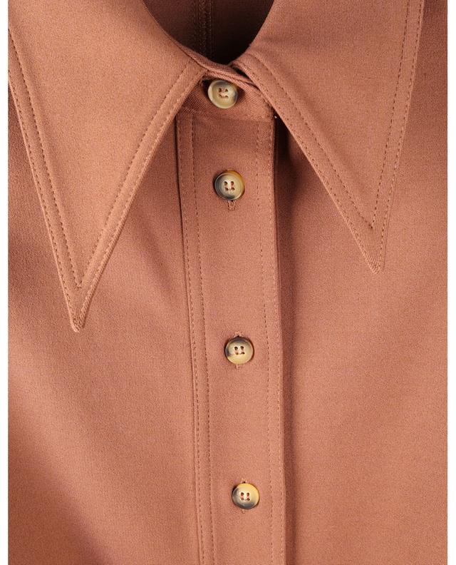 Robe chemise courte cintrée à fronces et ceinture VICTORIA VICTORIA BECKHAM