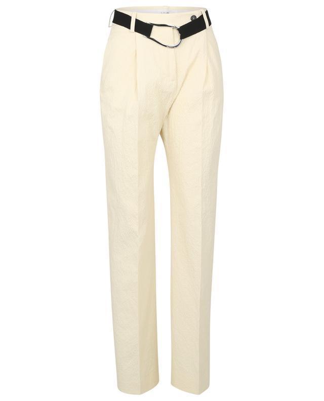 Pantalon à pinces en seersucker à ceinture gros grain VICTORIA VICTORIA BECKHAM