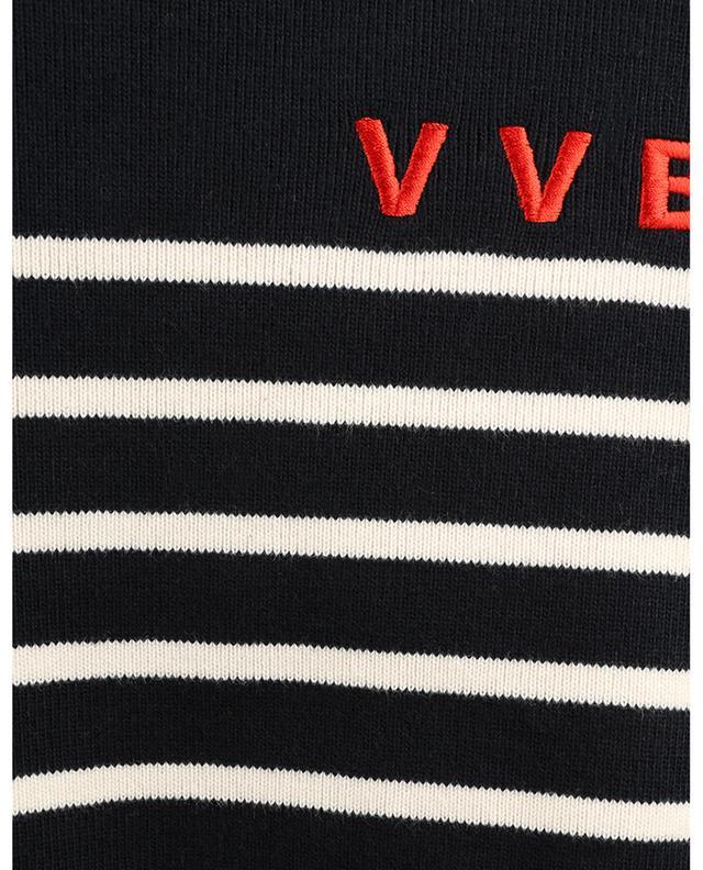 Marinière à manches longues brodée monogramme VICTORIA VICTORIA BECKHAM