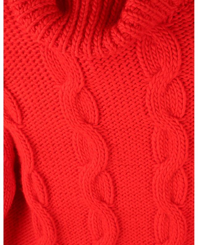 Pull ajusté en maille de laine torsadée à col roulé VICTORIA BECKHAM