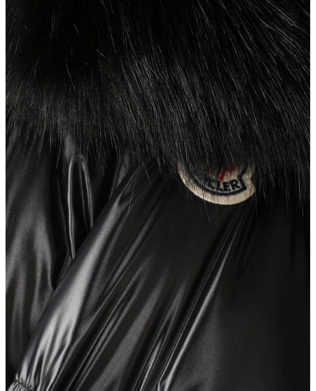 Doudoune à capuche garnie de fourrure synthétique Laiche MONCLER
